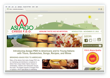 Asiago Email Template Design