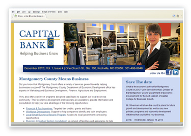 Capital Bank Email Design